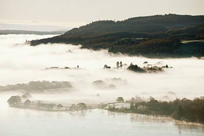 Morning Mist Over Lake Windermere Poster