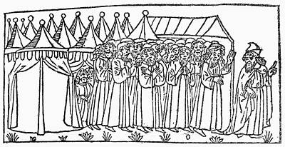 Moses Leading Israelites Poster by Granger