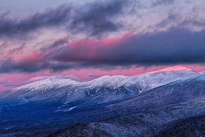 Mount Washington Summit In The Alpenglow Poster by Jeff Sinon