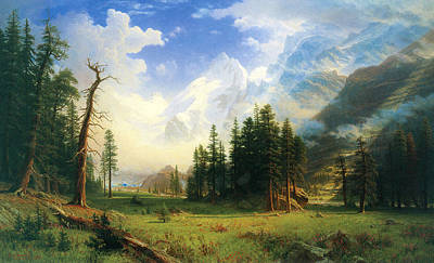 Mountain Landscape Poster by Albert Bierstadt