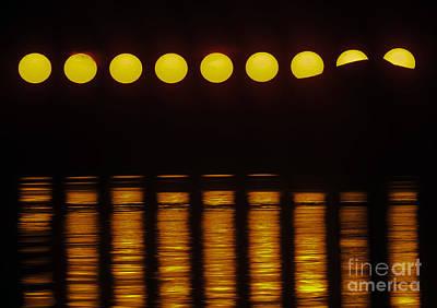 Movement Of Midnight Sun & Transit Poster by Babak Tafreshi