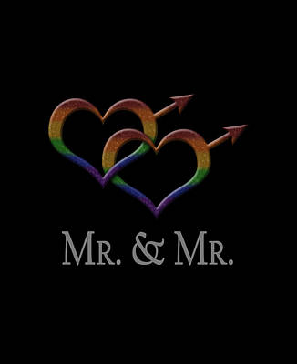 Mr. And Mr. Gay Pride Poster by Tavia Starfire