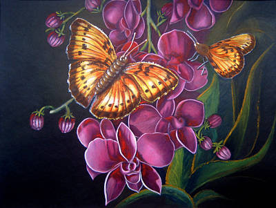 Butterfly Acrylic Painting Poster by MadhuRavi Paintings