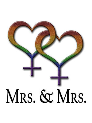Mrs. And Mrs. Lesbian Pride  Poster