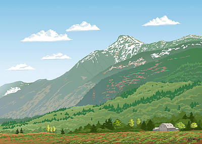 Mt Cheam In Spring Poster by Artellus Artworks