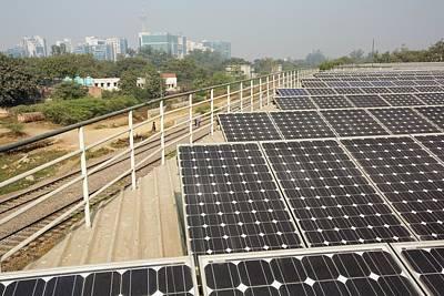 1 Mw Solar Power Station Poster