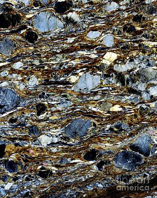 Mylonite Mineral, Light Micrograph Poster