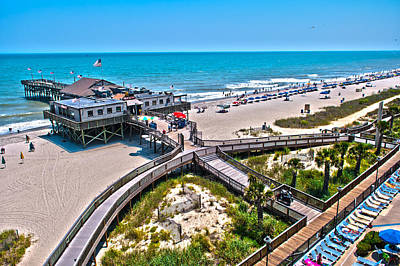 Poster featuring the photograph Myrtle Beach South Carolina by Alex Grichenko