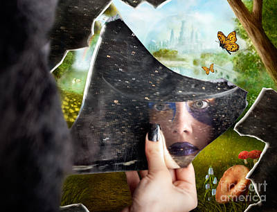 Mysterious Jester Found Wonderland In A Reflection Poster by Jorgo Photography - Wall Art Gallery