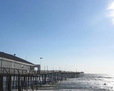 Poster featuring the photograph Nags Head Pier by Cathy Lindsey