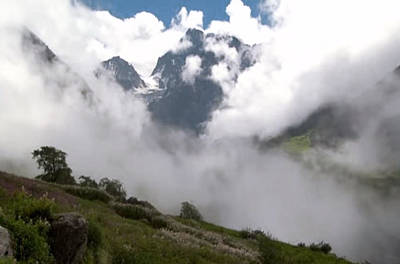 Nanda Devi Peaks On Mount Himalaya North India  Poster