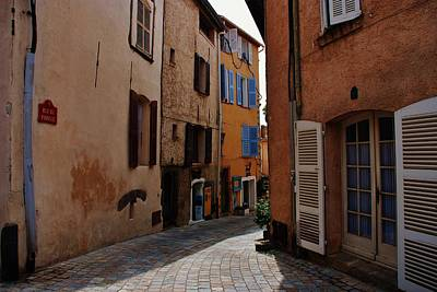 Narrow Street In Provence  Poster by Dany Lison