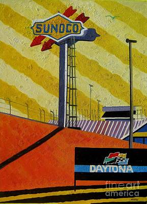Nascar Sunoco Poster by Lesley Giles