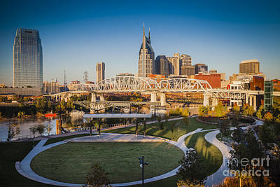 Nashville Morning Poster by Brian Jannsen