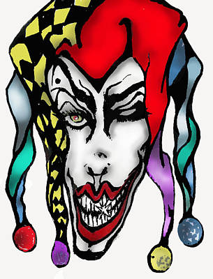 1 Nasty Jester Poster by Tiffany Selig