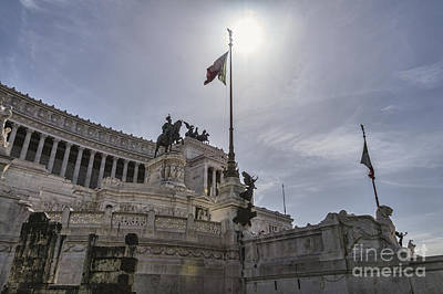 National Monument Of Vittorio Emanuele II On The The Piazza Venezia Poster by Frank Bach
