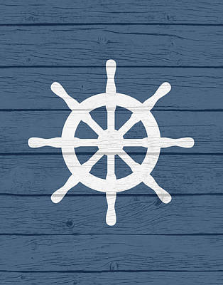 Nautical Wheel Poster by Tamara Robinson