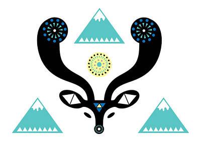 Navajo Deer Poster by Susan Claire