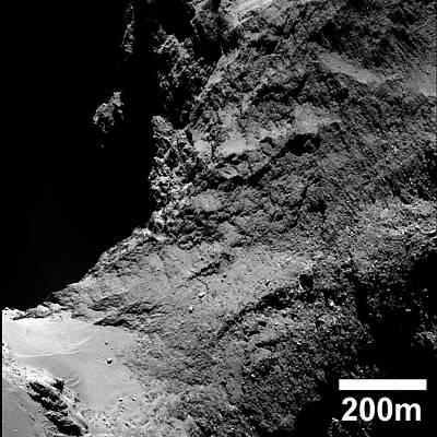 Neck Of Comet Churyumov-gerasimenko Poster by European Space Agency/rosetta/mps For Osiris Team Mps/upd/lam/iaa/sso/inta/upm/dasp/ida