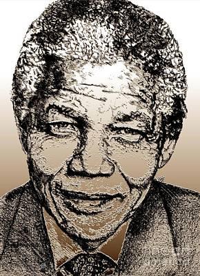 Nelson Mandela Poster by J McCombie