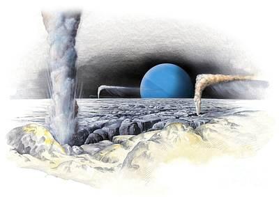 Neptune From Triton, Artwork Poster by Gary Hincks