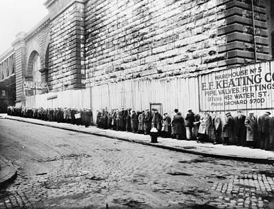 New York City Bread Line Poster