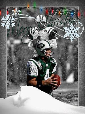 New York Jets Brett Favre Poster by Joe Hamilton