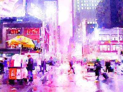 New York Life 8 Poster by Yury Malkov