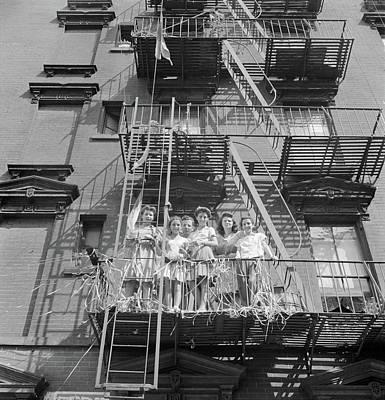 New York Mott Street, 1942 Poster