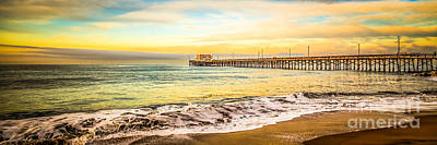 Newport Beach California Pier Panorama Photo Poster by Paul Velgos