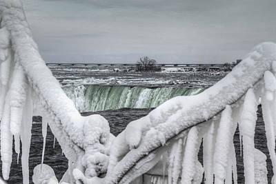 Niagara Falls In The Winter Poster