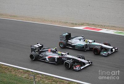 Nico Rosberg And Esteban Gutierrez Poster