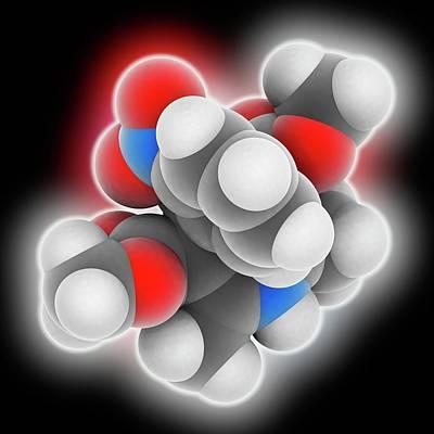 Nifedipine Drug Molecule Poster by Laguna Design