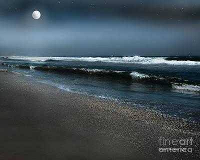 Night Beach  Poster