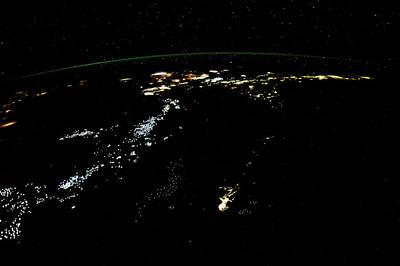 Night Time Satellite Image Poster