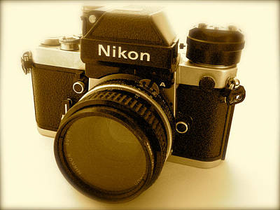 Nikon F2 Classic Camera Poster by John Colley
