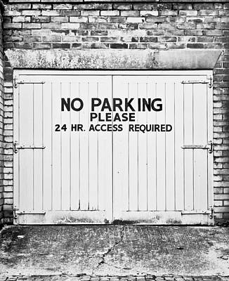 No Parking Poster by Tom Gowanlock