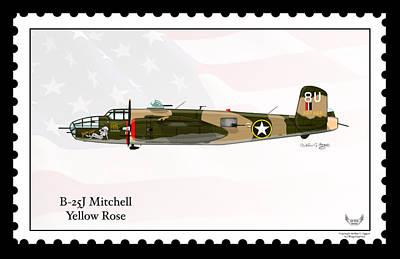 North American B-25j Mitchell Poster