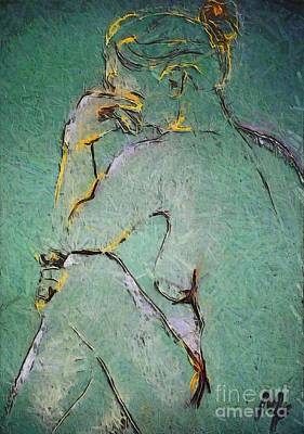 Nude IIi  Poster by Dragica  Micki Fortuna