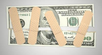 Nursed Torn Us Dollar Poster by Allan Swart