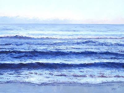 Ocean At Dusk Poster by Jan Matson