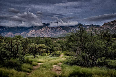 Poster featuring the photograph Odyssey Into Clouds Oil by Mark Myhaver