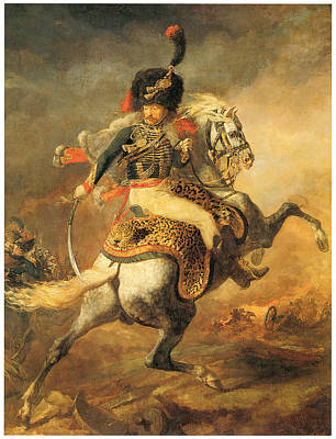 Officer Of The Hussars Poster by Theodore Gericault