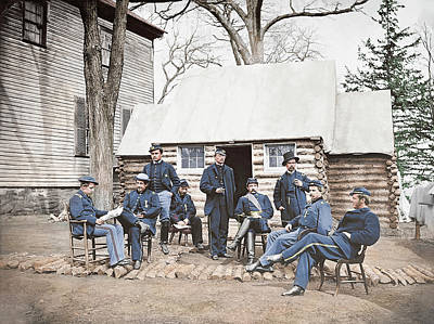 Officers At Headquarters Of 6th Army Poster by Stocktrek Images