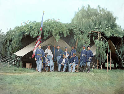 Officers Of 4th New Jersey Infantry Poster by Stocktrek Images