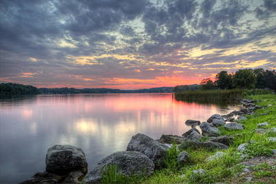 Ohio Lake Sunset Poster
