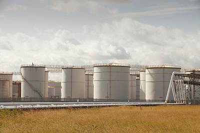 Oil Storage Depot Poster by Ashley Cooper