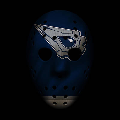Oilers Jersey Mask Poster by Joe Hamilton
