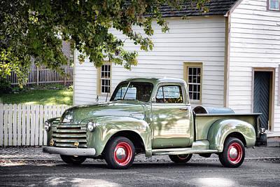 Old Chevrolet Pickup Truck Poster by Patrick M Lynch