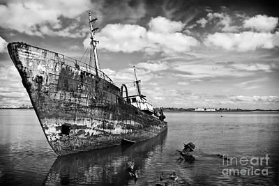 Old Fishing Ship Wreck Poster